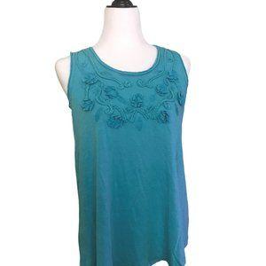 Style & Co Freshwater tank T-shirt Aqua Size Small